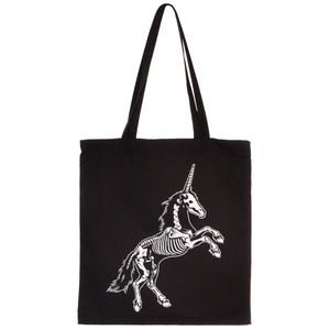NEW Haunted Undead Unicorn Skeleton Tote Bag